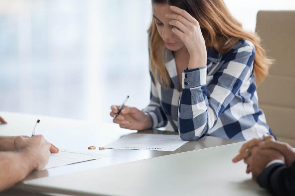 Signing Divorce Paper